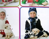 Simplicity 0637 Uncut Pattern Children and Dogs Matching Winter Accessories