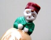 Vintage Lusterware Figural Bell Lustreware Japan