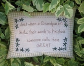 Great Grandparent Embroidered Pillow -