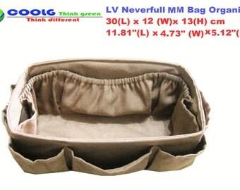 purse organizer louis vuitton neverfull mm, purse insert organizer LV neverfull mm, Made to order