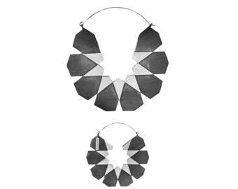 Silver Moroccan Hoops - Big Hoop Earrings 2 Sizes