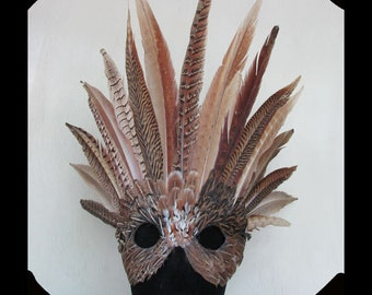 Indian Chief is a mask created using Ringneck Pheasant Tails for a Powerful Effect