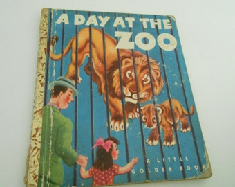 Little Golden Book A Day at the Zoo 1950 1st ed.