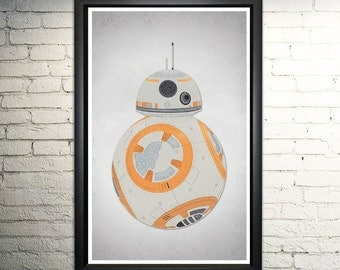 BB8 word art print 11x17""