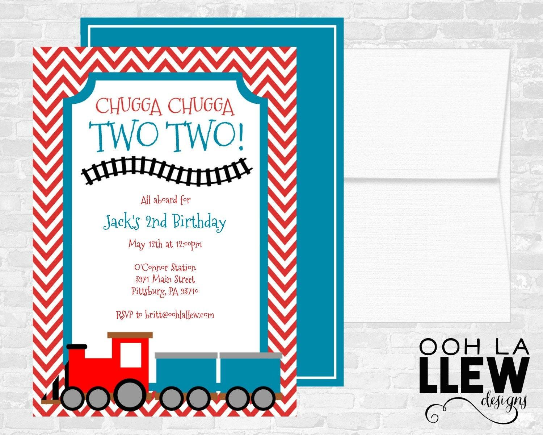 train invitation | etsy, Birthday invitations