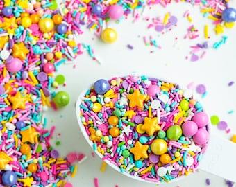 ALL KINDS of HAPPY Sprinkle Medley, Sprinkle Mix, Pastel Sprinkles, Cake Sprinkles, Canadian Sprinkles