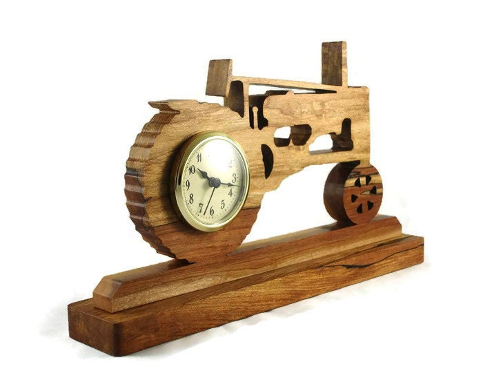 John Deere Desk : Antique style john deere tractor desk shelf clock