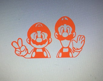 Mario and Luigi Decal