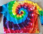 Tie Dye Sweatshirt upcycled size 1X