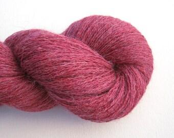 Recycled Baby Alpaca Lace Yarn, Raspberry Sherbet, 1070 yards, Lot 091015