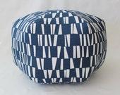 Navy Pouf / Navy sticks Fabric / large pouf / floor pouf / ottoman pillow / floor pillow / floor cushion / home decor / dorm furniture
