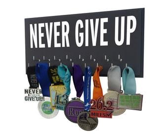 Running Medal Holder and Race Bib Hanger With inspirational graphic Track medals for all our college runners Now Show It Off