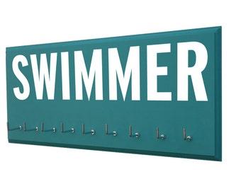 Swimming: Use a awards display rack to display your swimming awards - swimmer - swimmers - gifts for swimmer - swim team - medal