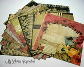 12 6 x 6 Prima Romance Novel Paper Collection, Paper Assortment for Scrapbooking Mini Albums Cards Tags and Papercrafts