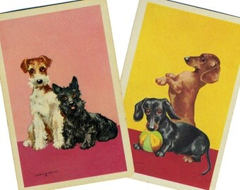 LI'L RASCALS (2) Vintage Single Swap Playing Cards Paper Ephemera Scrapbook