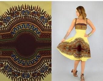 SUMMER SALE SALE • 60's Dashiki Convertible Wrap Dress