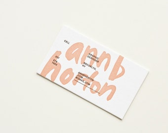 Custom Extra-Thick Letterpress Business Card