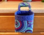 Thread Catcher / Scrap Caddy / Pincushion / Phillip Jacobs, Millefiore blue, Aboriginal pLUM