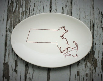 State Outline platter Home Sweet Home Housewarming State Plate