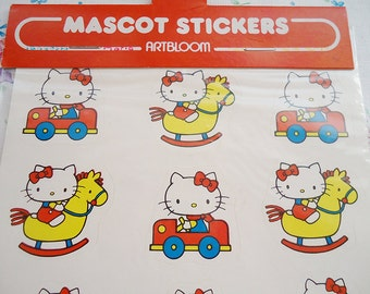 Hello Kitty Vintage Sticker Sheet.Original from 1976.Sanrio