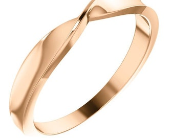 14k Twisted Stackable Ring