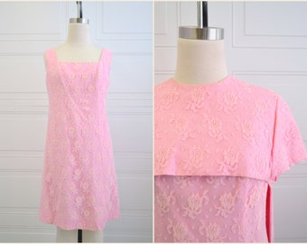1960s Pink Lace Dress and Hi-Lo Jacket