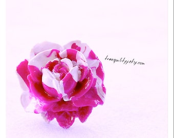 Rose Ring, Raspberry Rain Polymer Clay Adjustable Ring ,Hipster, Scene, Lolota , Kawaii, By: Tranquilityy