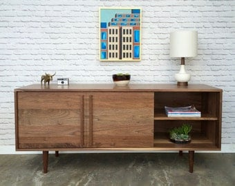Kasse Media Console in Solid Walnut - In Stock!
