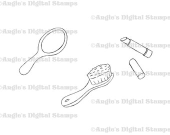 Beauty Accessories Digital Stamp Set