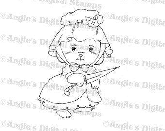 Petticoat Bear Digital Stamp Image