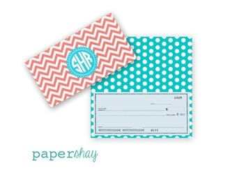 Checkbook Cover, Monogrammed Checkbook Cover, CHEVRON, Personalized Checkbook Cover, Custom Checkbook Cover, Vinyl Checkbook Cover