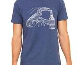 Lobster Shirt, Funny Beer Shirt, Craft Beer Shirt, Maine Tshirt, Maine Gift, Beer Lover Shirt, Lobster Gift, Homebrewer Gift