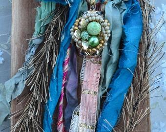 Necklace Boho Fibers   Autumn Gift hippie choker