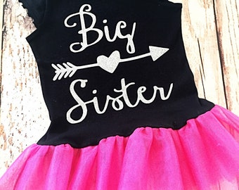 Big Sister Shirt- Big Sister Announcement Shirt- Coming Home Outfit- Big Sister Little Sister Outfit- Sibling Outfit- Matching Sister Outfit