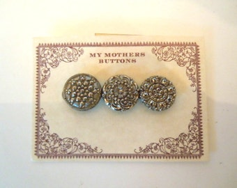 Victorian Glass Buttons Brooch Mothers Buttons Jewelry Accessory Gift Under Fifty Dollars