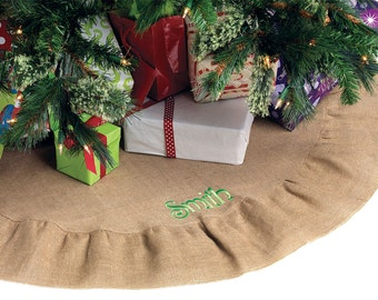 Burlap Tree Skirt - add your own personalization