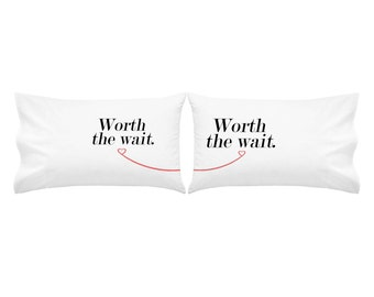 Long Distance Relationship Gift Love Pillow Case Valentines Day Gift Love Pillow LDR Present Love Pillow Case Me and You LDR Pillow Case