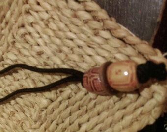 Extra Thick Dreadlock Hair Tie with Wooden  Beads
