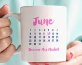 Wedding Date Personalised Mug