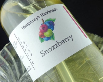 SNOZZBERRY Body Wash, 8 oz, Women's Mixed Berry Scented Organic Castile Soap, Shampoo Shower Gel, Snozzberries Berry Raspberry Cranberry