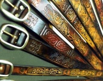 Celtic  Viking  Saxon Design Belts