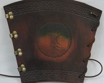 In stock, Heavy Weight Large Archer's Arm Guard, Brown Tree of Life