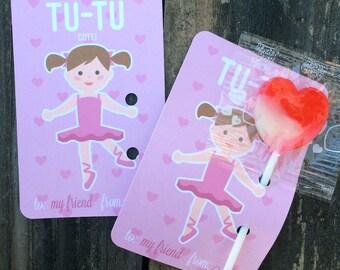 Ballerina Valentines - DIY Printable