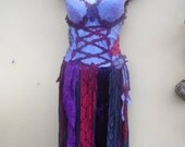 "20% OFF pixie inspired purple bustier top..,,small to 38"" bust..."
