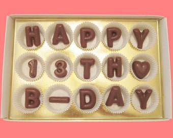 13th Birthday Gift Idea Young Teen Gift 13 Years Old Boy Girl Unusual Cute Funny Happy 13th B Day Large Milk Chocolate Letters Message Box