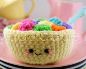 CROCHET PATTERN- Amigurumi Bowl of Fruit Loops