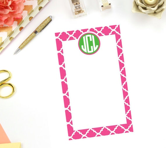 Personalized/ Custom Notepad - Monogram Stationery - Chore List - To Do Notepad