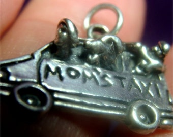 Mom's TAXI Charm in STERLING Silver