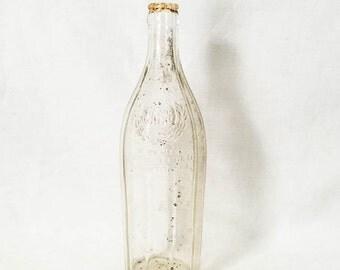 Vintage cider vinegar bottle- Old Wayne County Produce Co bottle- Antique vinegar bottle- collectible vinegar bottle