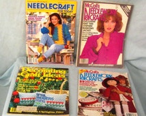 Needlecraft Magazines Group of 4 American Home Arts and McCall's Decorating & Craft Ideas Vintage 1980's How To Patterns Insructions